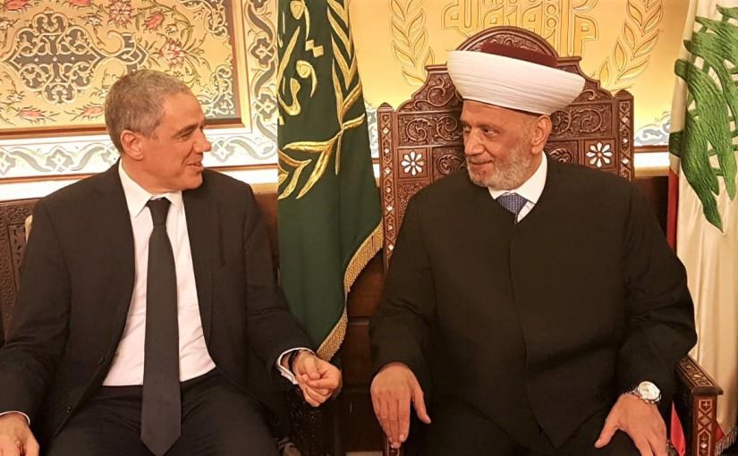 Grand Mufti Abdel Amir Kabalan Meets European Ambassador