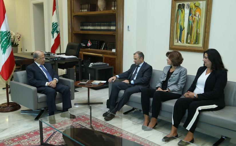 President Michel Aoun Meets Minister Gebran Basil