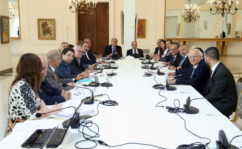 President Michel Aoun Heading The 100TH Greater Lebanon  ( Higher Consultative Committee )