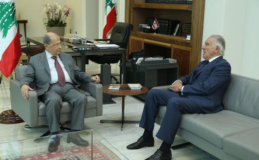 President Michel Aoun Meets Former Minister Ibrahim Daher