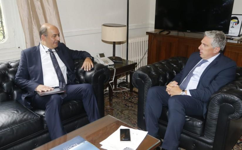 Ambassador Ghadi Khoury meets Turkish Ambassador