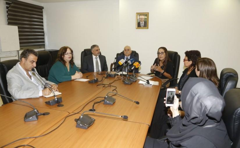 Minister Jamil Jabak meets a Delegation from Non Smoking Association