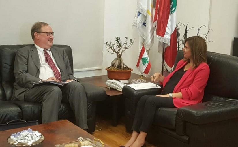 Minister Nada Boustani meets Mr Pierre Duckan
