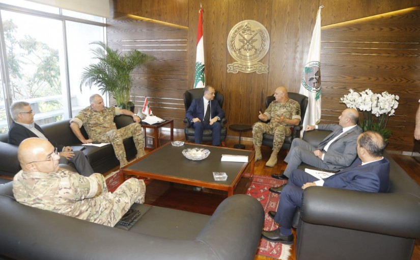 Minister Elias Abou Saab meets a Delegation from Lebanese Army