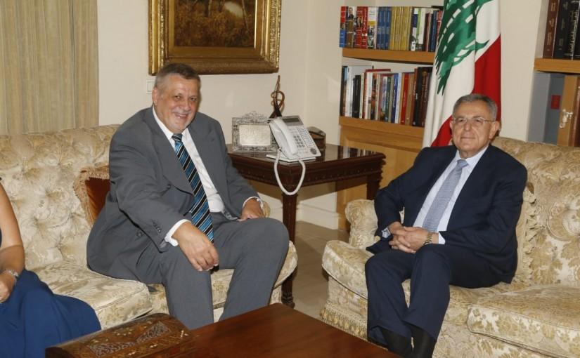 Former Pr Minister Fouad Siniora meets Mr Jean Kubis
