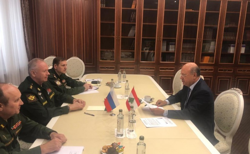 Mr George Cheaban meets Russian Deputy Minister of  Defense