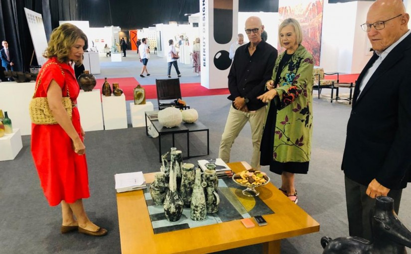 Former Pr Minister Tammam Salam Visits the Beirut Art Fair