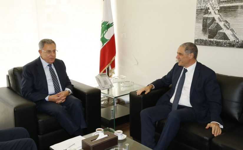 Former Pr Minister Fouad Siniora meets European Ambassador