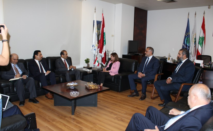 Minister Nada Boustani meets a Qatar Delegation