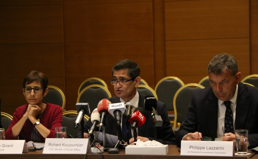 Minister Richard Kouyoumdjian Attends a Conference at Dune Hotel