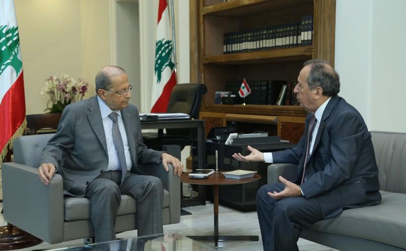 President Michel Aoun Meets MP Jamil Sayyed