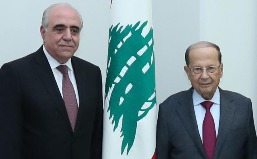 President Michel Aoun Meets Mr Joseph Saifi