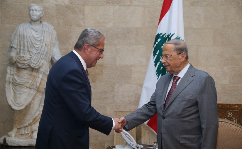 President Michel Aoun Meets a Delegation of The Maronite Council Headed By Former Minister Wadih El Khazen