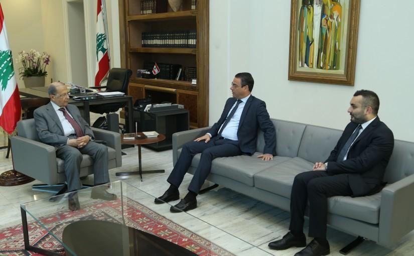 President Michel Aoun Meets MP Nicolas Sehnaoui & Mr Hadi Said