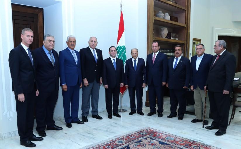 President Michel Aoun Meets a Delegation of Coastal & Maritime Tourism Syndicate
