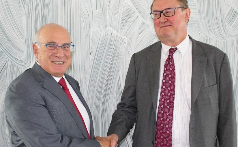 Minister Kamil abou Sleiman meets Mr Pierre Duckan