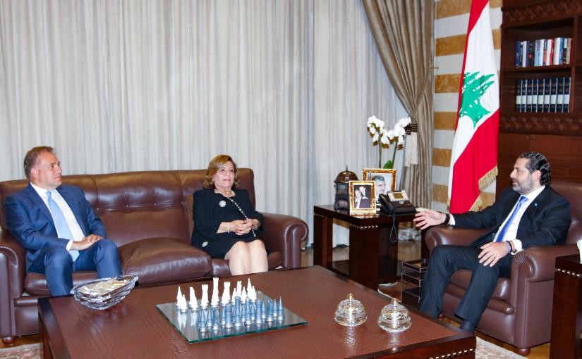 Pr Minister Saad Hariri meets Mrs Hiyam Saker