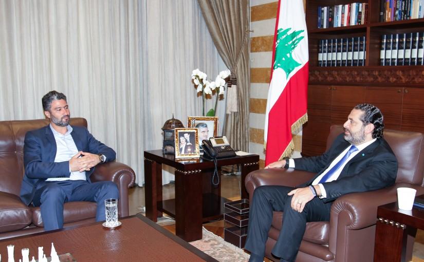 Pr Minister Saad Hariri meets MP Cesar Maalouf