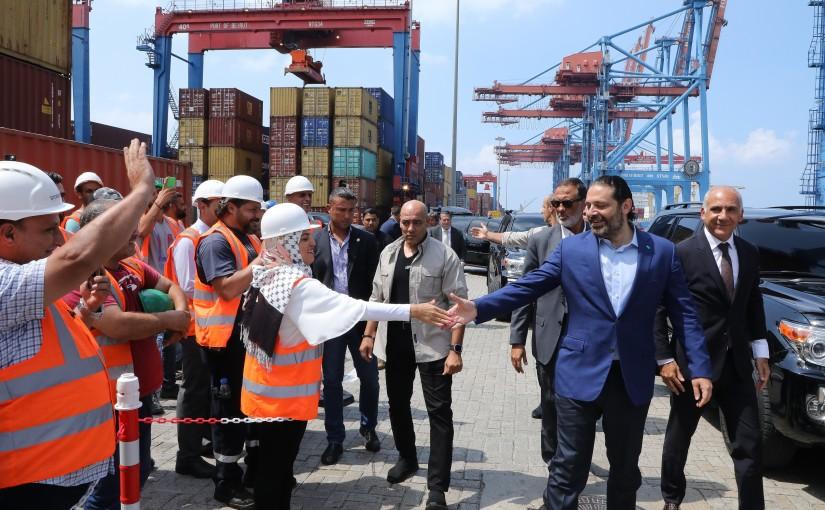 Pr Minister Saad Hariri Visits Beirut Port