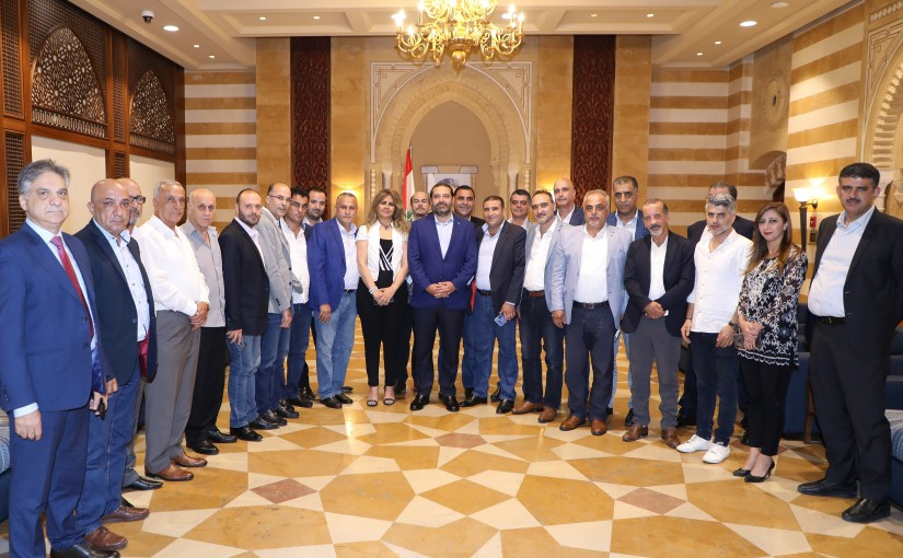Pr Minister Saad Hariri meets a Delegation from Eleklim Future Party