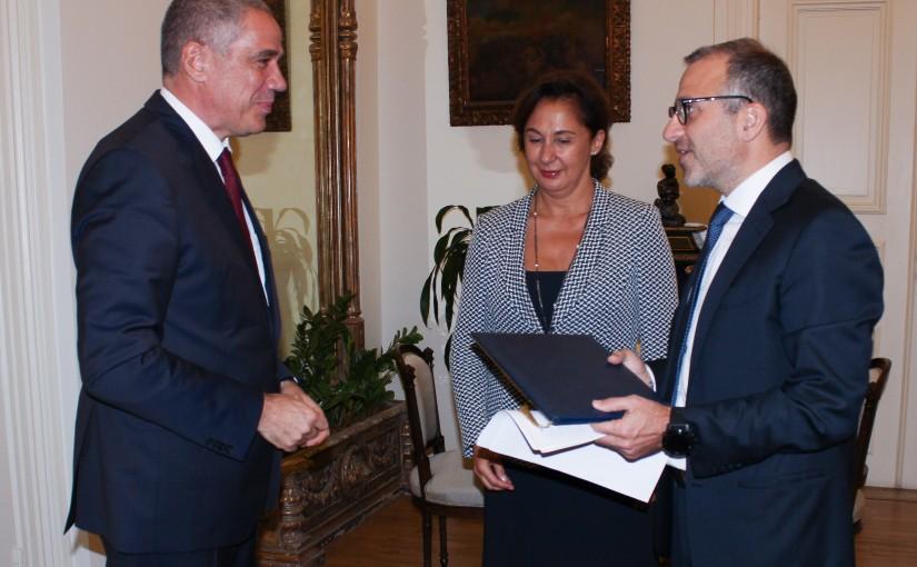 Minister Gebran Bassil meets European Ambassador