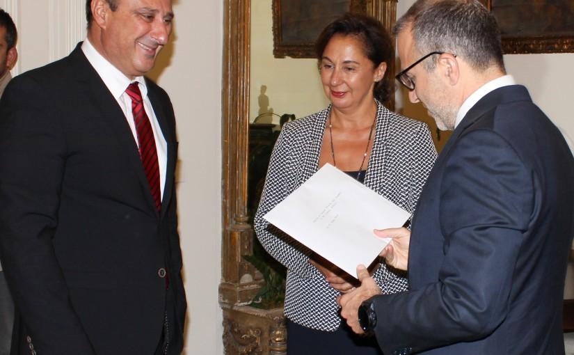 Minister Gebran Bassil meets Cyprus Ambassador