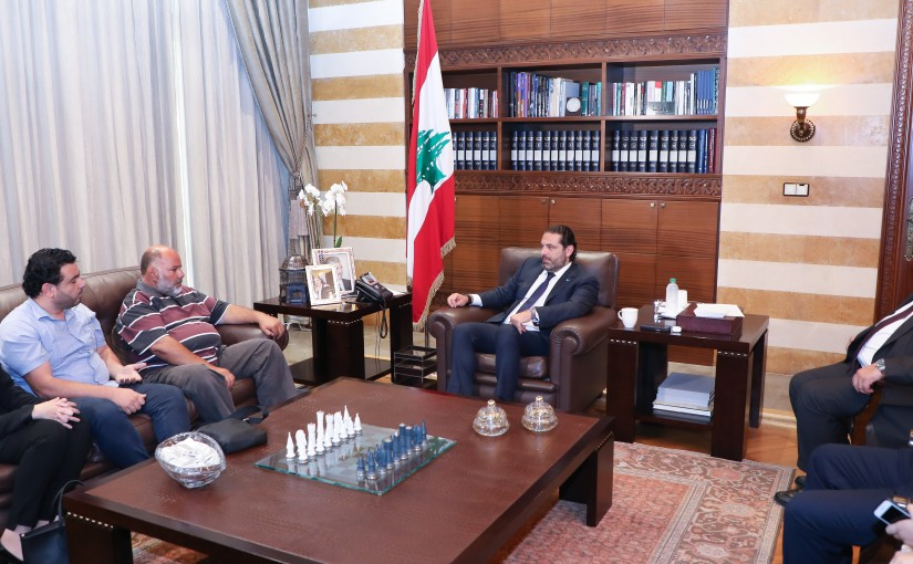 Pr Minister Saad Hariri meets a Delegation from Oumayrat Families