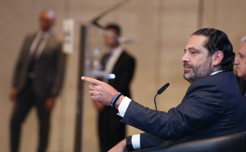 Lecture for Pr Minister Saad Hariri at Phoenician Hotel