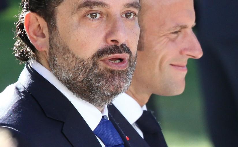 Pr Minister Saad Hariri meets French President Emmanuel Macron