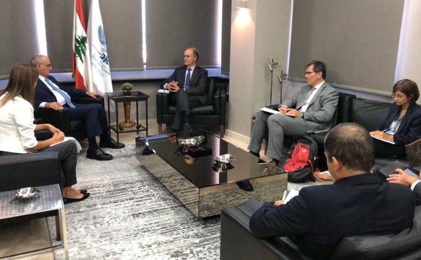 Minister Ali Hassan Khalil Meets a Delegation  From the World Bank