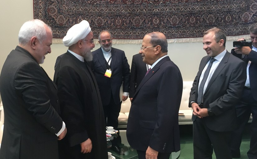 President Michel Aoun Meets Iranian President Hassan Rouhani