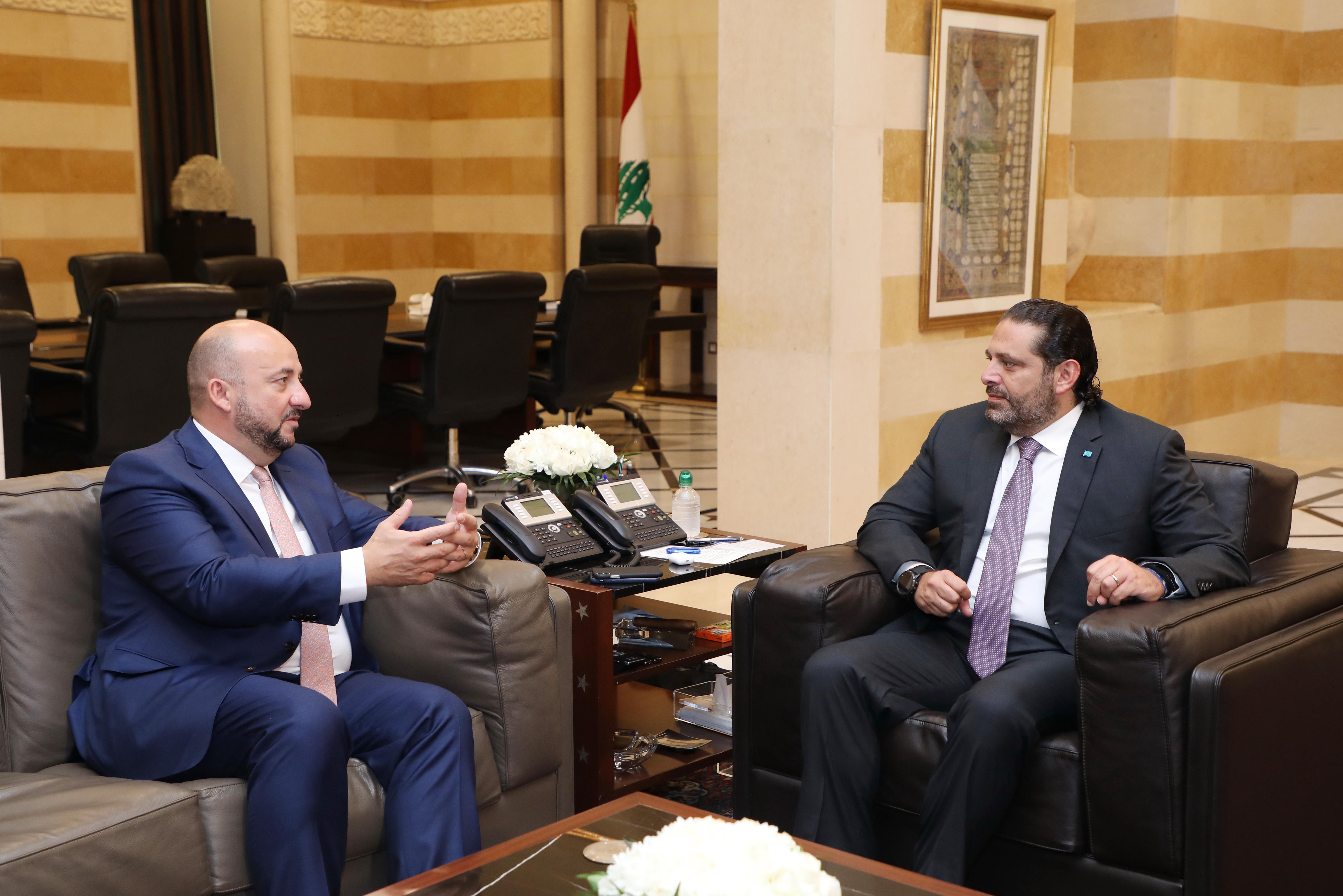 Pr Miinister Saad Hariri meets Luxenburg Deputy Pr Minister