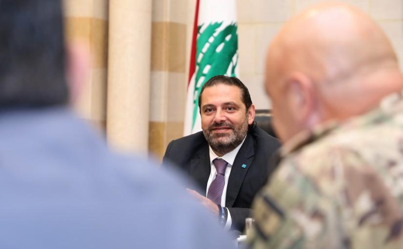 Pr Minister Saad Hariri Heading a Security Meetting