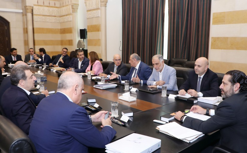 Pr Minister Saad Hariri Heading a Delegation from Energy Committee
