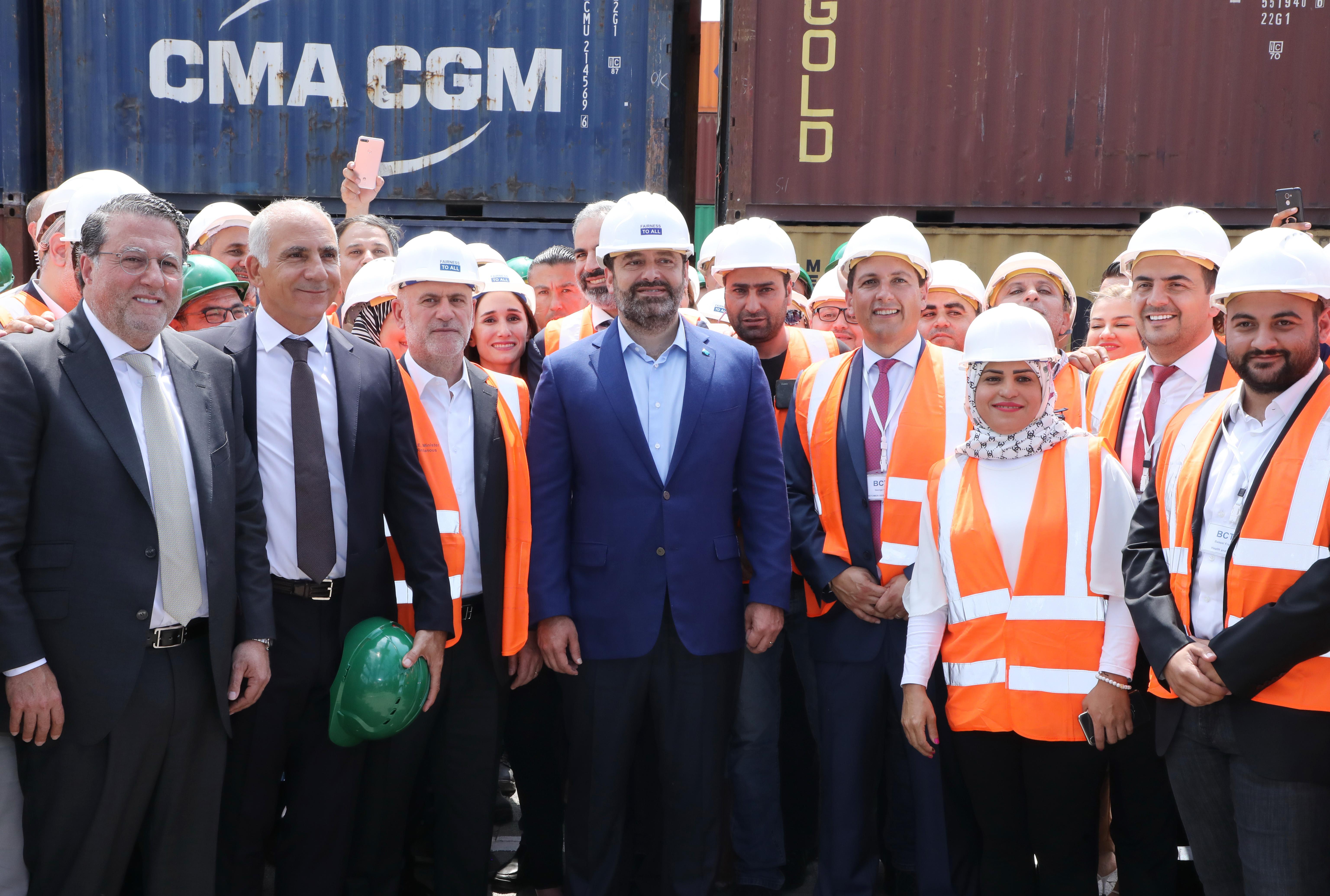 Pr Minister Saad Hariri Visits Beirut Ports 1