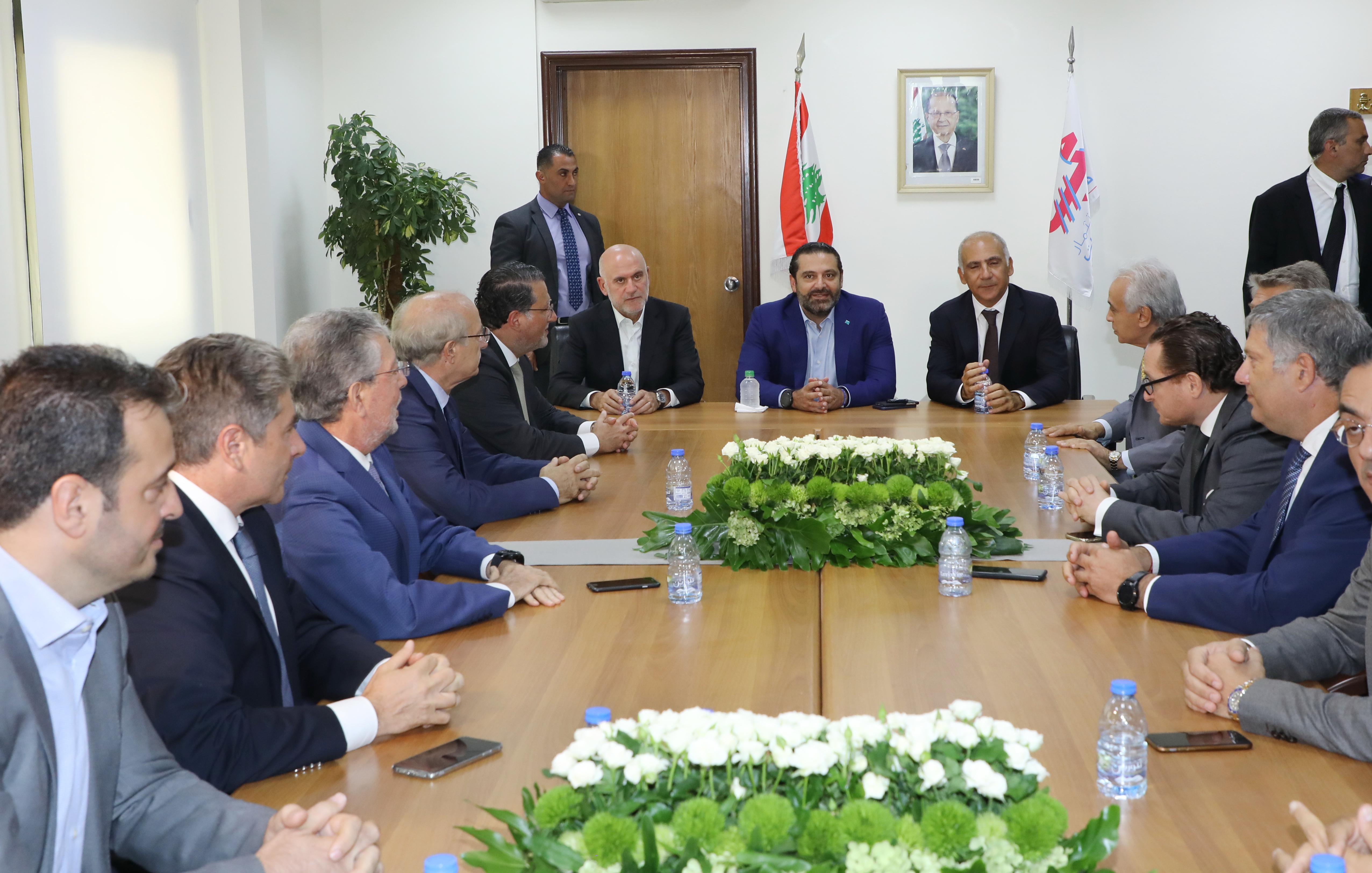 Pr Minister Saad Hariri Visits Beirut Ports 14