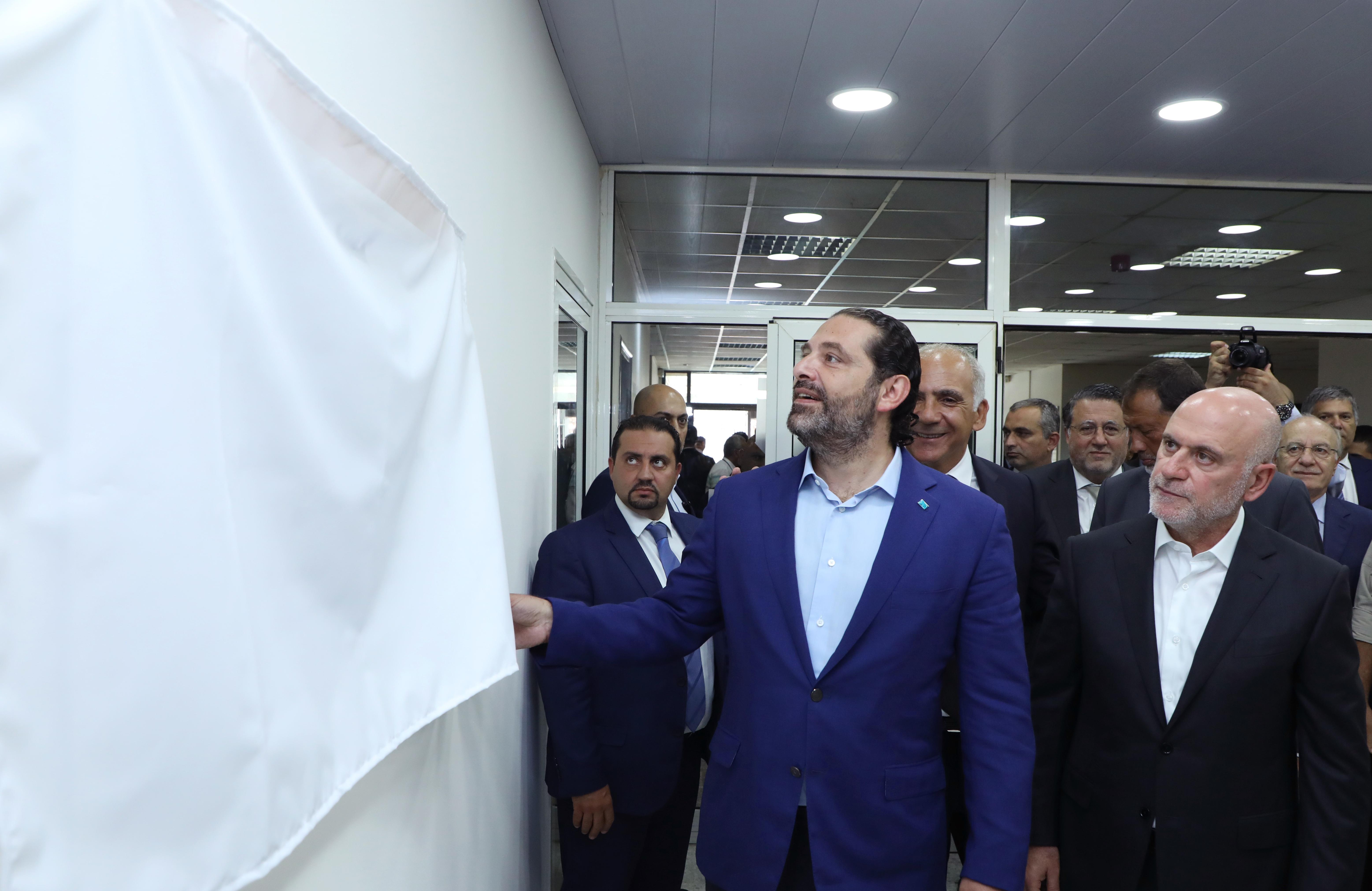Pr Minister Saad Hariri Visits Beirut Ports 15