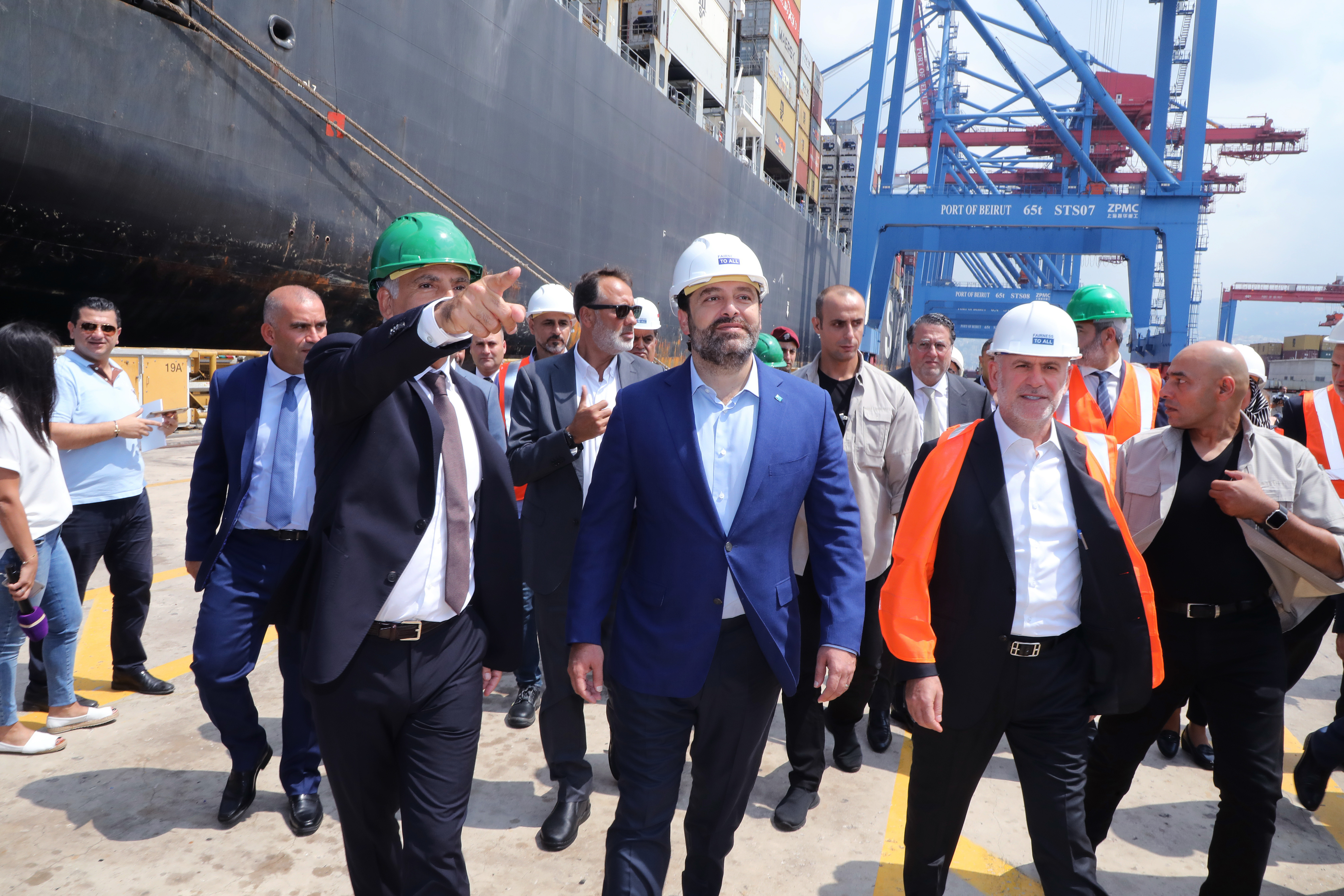 Pr Minister Saad Hariri Visits Beirut Ports 4
