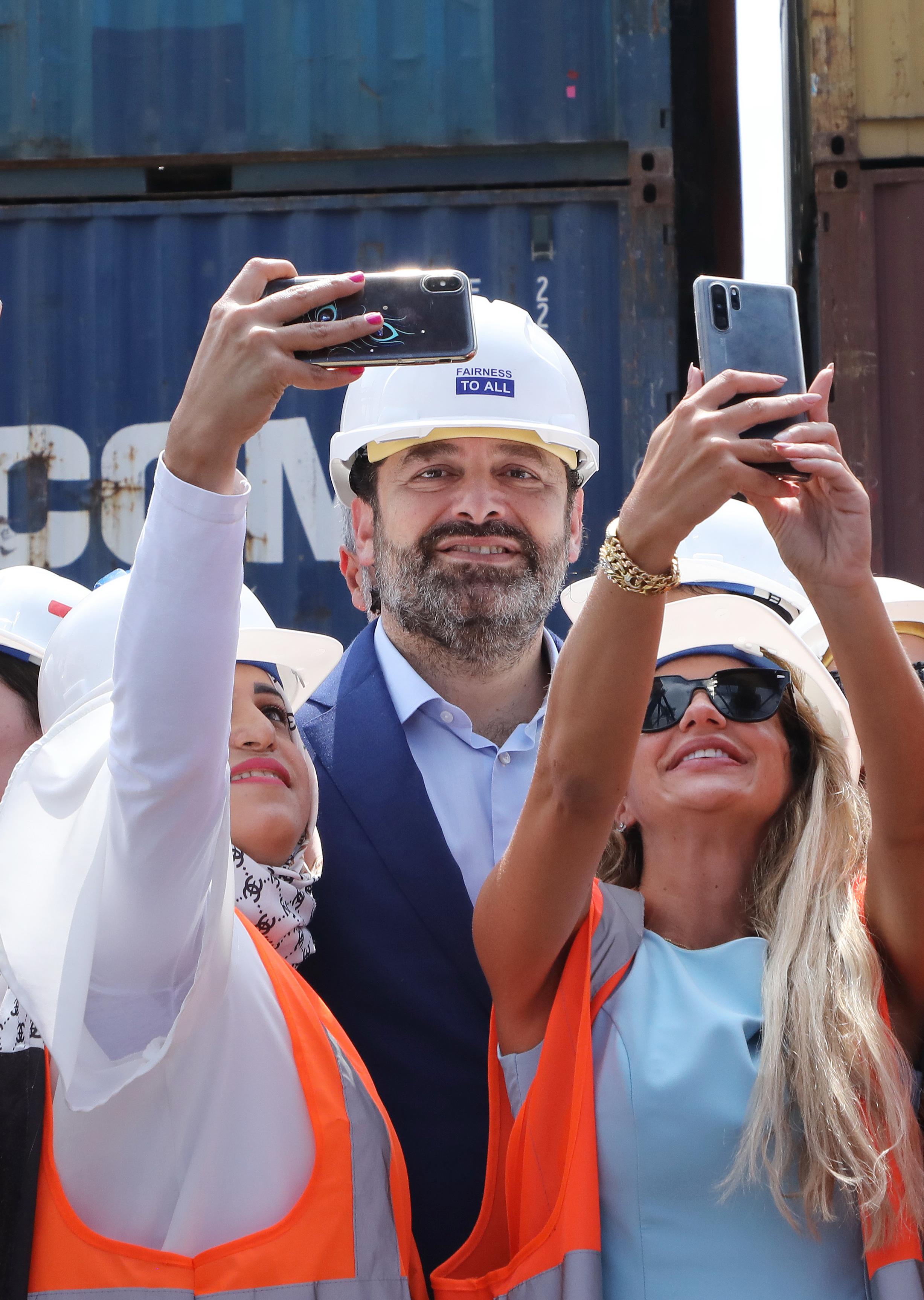 Pr Minister Saad Hariri Visits Beirut Ports
