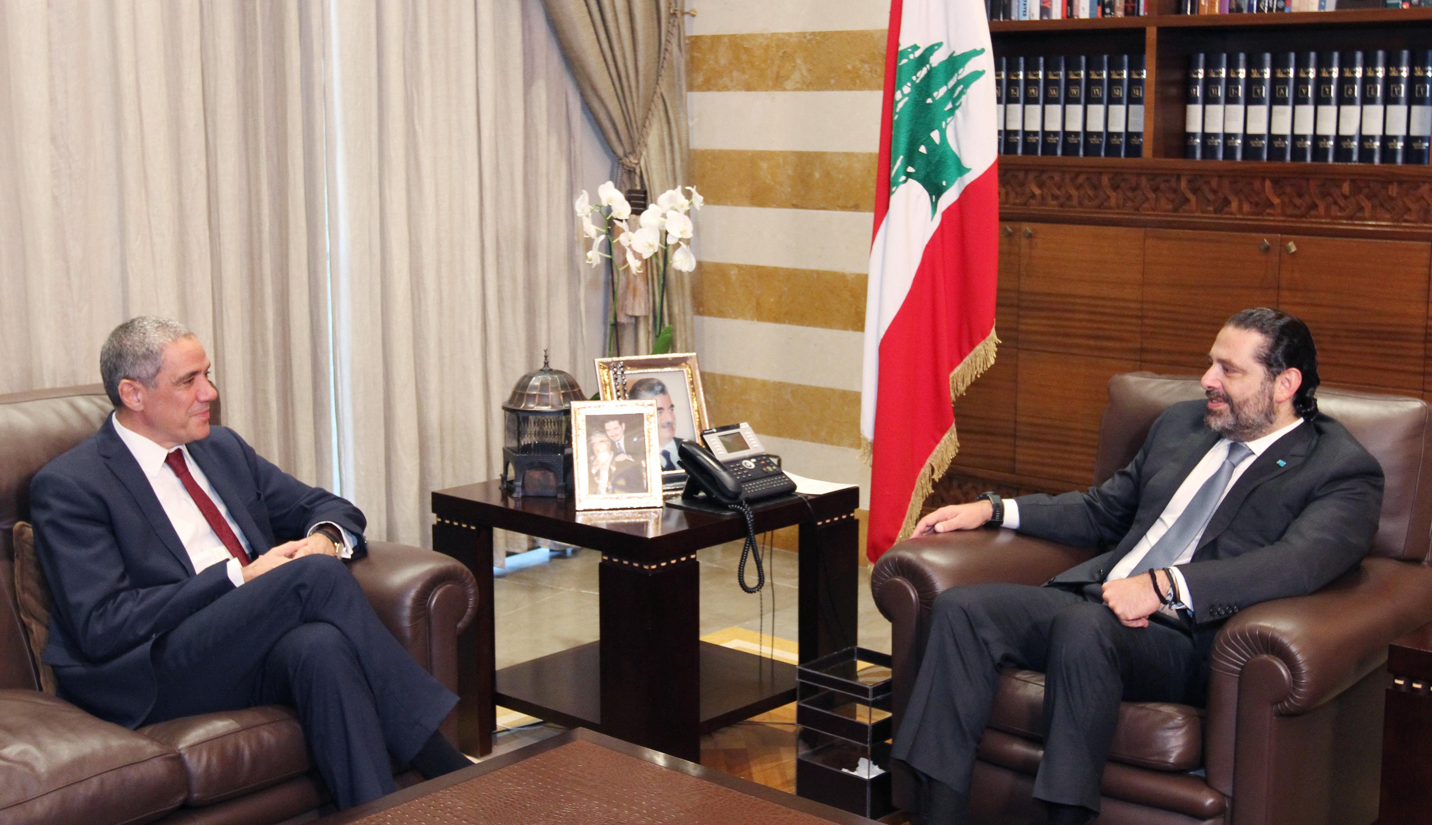 Pr Minister Saad Hariri meets European Ambassador 1
