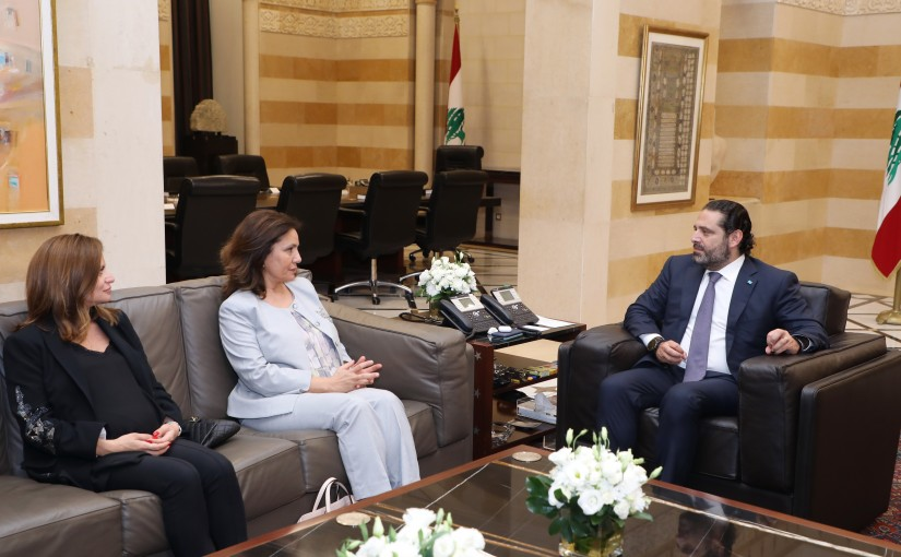 Pr Minister Saad Hariri meets Jordanian Minister