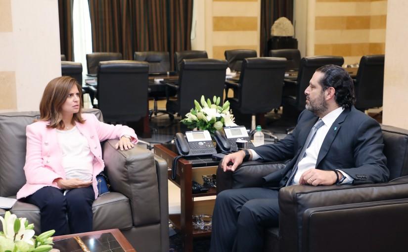 Pr Minister Saad Hariri meets Minister Nada Boustani