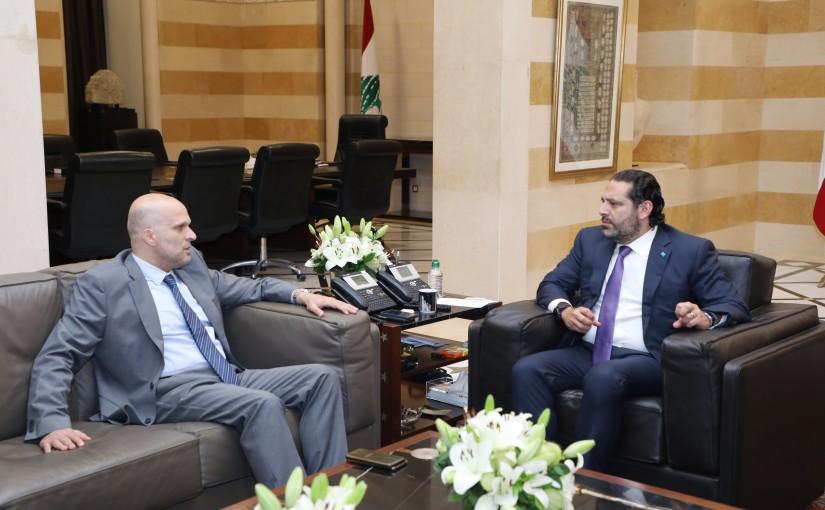 Pr Minister Saad Hariri meets Mr Fahed el Moukadem