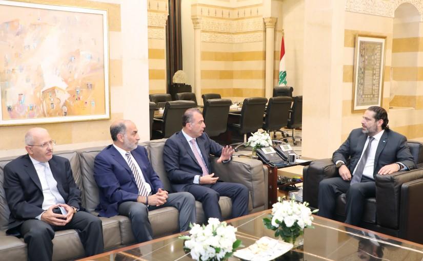 Pr Minister Saad Hariri meets Mr Imad Khalil with a Delegation