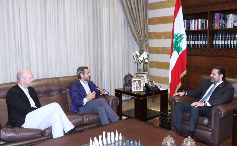 Pr Minister Saad Hariri meets Mr Kevin Tawil with a Delegation