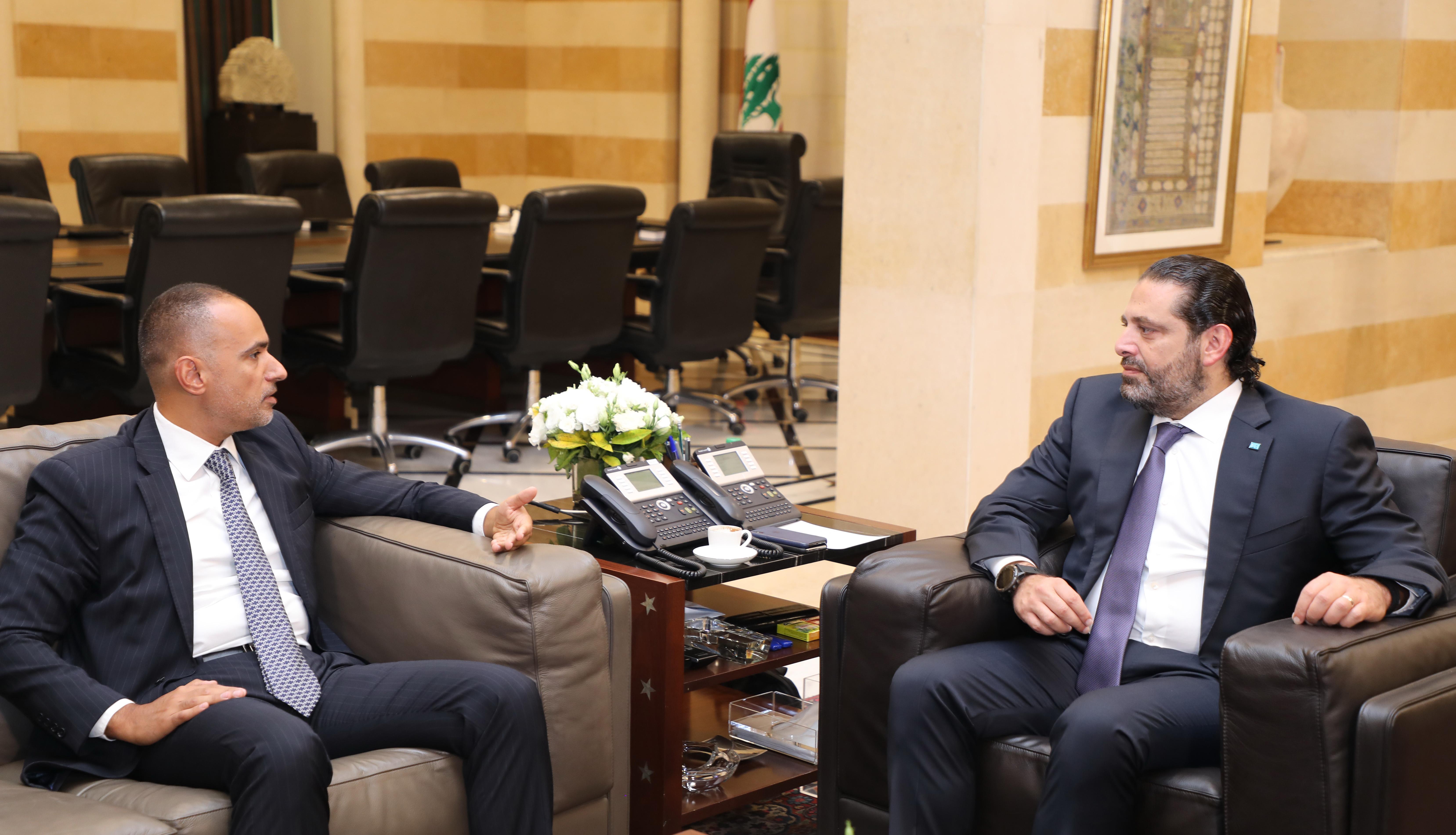Pr Minister Saad Hariri meets Mr Mazen Soueid