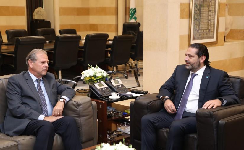 Pr Minister Saad Hariri meets Mr Nabil de Freig
