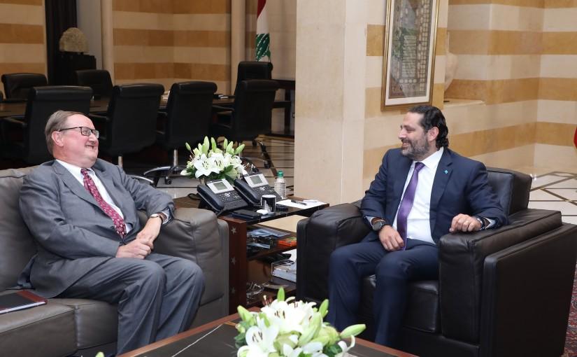 Pr Minister Saad Hariri meets Mr Pierre Duckan
