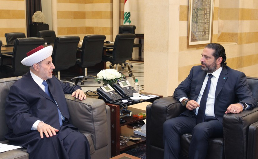 Pr Minister Saad Hariri meets Mufti Malek Shaare