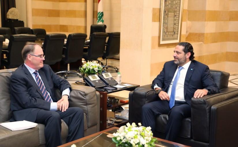 Pr Minister Saad Hariri meets a Delegation From STL